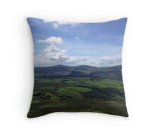 Fields and Hills of Ireland Throw Pillow