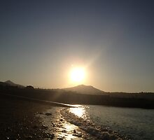 Sunset over the Sugarloaf mountain, Ireland by Maire Morrissey-Cummins
