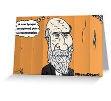 Chute de cheveux Président HAYES portrait webcomic Greeting Card