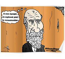 Chute de cheveux Président HAYES portrait webcomic Poster