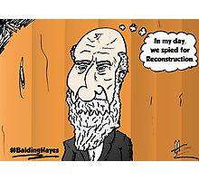 Thinning hair President Hayes webcomic portrait Photographic Print