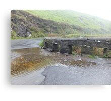 Kerry, Ireland, Bridge and river  Canvas Print