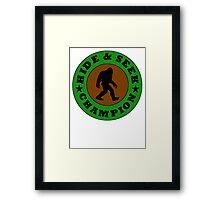 Bigfoot Hide And Seek Champion Framed Print
