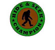 Bigfoot Hide And Seek Champion Photographic Print