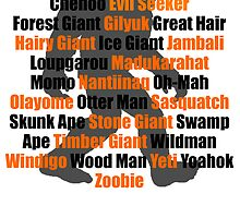 Bigfoot Names by kwg2200