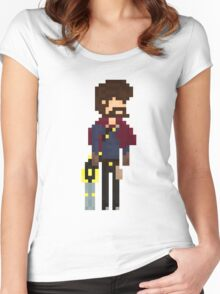 Graves, The Pixel Outlaw Women's Fitted Scoop T-Shirt