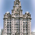 The Liver Building - Hand tinted effect by © Steve H Clark