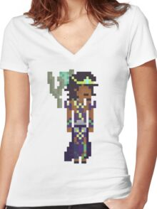 Karma, The Pixel Support Women's Fitted V-Neck T-Shirt