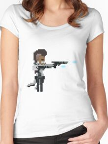 Lucian, The Pixel Purifier Women's Fitted Scoop T-Shirt