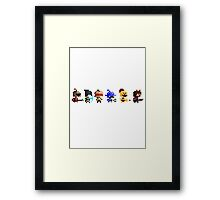 The Pixel League Framed Print