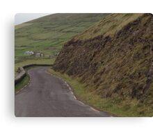 Stone walls dividing fields, Kerry, Ireland Canvas Print