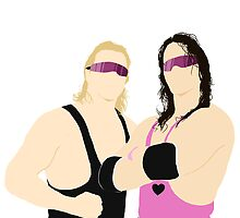 Bret and Owen Hart/WWF by michaelpalin