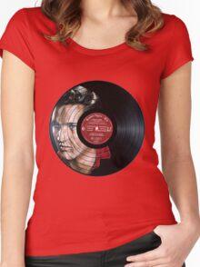 Elvis Presley Portrait Women's Fitted Scoop T-Shirt