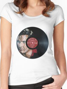 Elvis Presley Portrait Women's Fitted Scoop T-Shirt