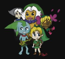 Majora's Mask Chibi Link Transformations One Piece - Short Sleeve
