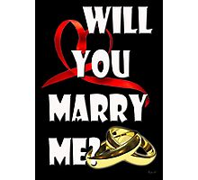 WILL YOU MARRY ME? Photographic Print