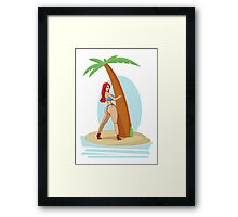 Pin Up - Small Island Framed Print