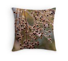 Frozen Tree Berries   1827 Color Throw Pillow