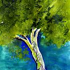 A painted tree  by Elizabeth Kendall