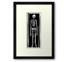 Late Medieval Woodcut of Skeleton in Coffin Framed Print