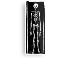 Late Medieval Woodcut of Skeleton in Coffin Metal Print