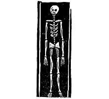 Late Medieval Woodcut of Skeleton in Coffin Photographic Print