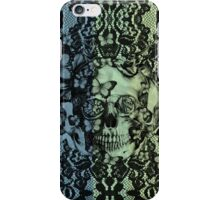 Navy fade Victorian Lace Skull iPhone Case/Skin