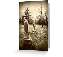 Wright Cemetery  Greeting Card