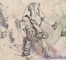 Fantasy Robot Mecha Warrior Sticker