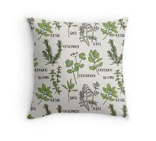 Herb Throw Pillow