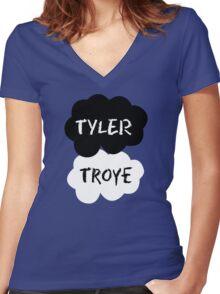 TYLER & TROYE (Tyler Oakley & Troye) - TFIOS Design Women's Fitted V-Neck T-Shirt