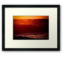 """Waves of Winter"" Framed Print"