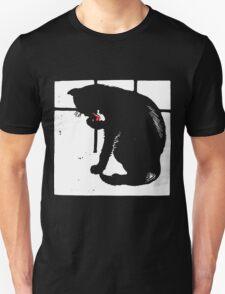 Victorian Woodcut Black Cat T-Shirt