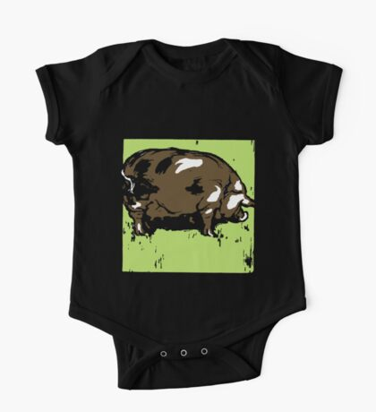 Victorian Woodcut Pig or Hog One Piece - Short Sleeve