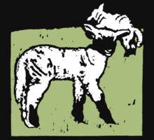 Victorian Woodcut Lambs Sheep One Piece - Short Sleeve
