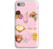 Pixeled foods iPhone Case/Skin