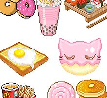 Pixeled foods by Tishisnotonfire