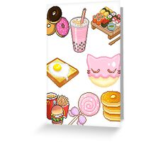 Pixeled foods Greeting Card