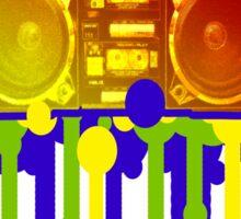 Retro 80's Boombox Art Sticker