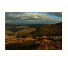 The Way Down From Croaghconnellagh Art Print