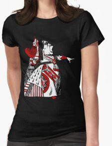 Queen of Hearts Alice in Wonderland Womens Fitted T-Shirt
