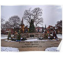 Merry Christmas from Punxsutawney, PA Poster