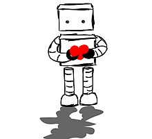 Robot with Heart by lcreale