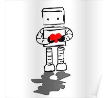 Robot with Heart Poster