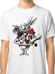 Alice In Wonderland White Rabbit Classic T-Shirt
