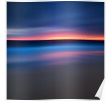 Abstract Sunset Seascape Poster