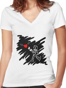 Chasing Love Women's Fitted V-Neck T-Shirt