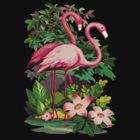 Retro Pink Flamingos by Pixelchicken