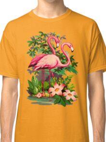 Retro Pink Flamingos Classic T-Shirt