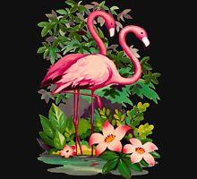 Retro Pink Flamingos Unisex T-Shirt